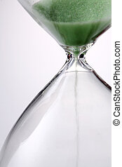 hourglass - Sand funneling through hour glass