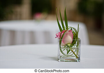 centro de mesa, rosa