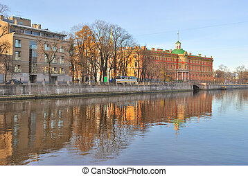 St. Petersburg. Fontanka River - St. Petersburg. Beautiful...