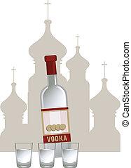 Russian Vodka - Illustration of russian vodka and Kremlin...