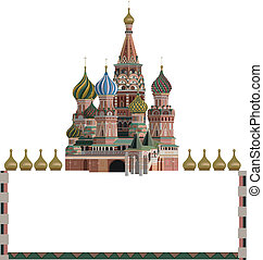 Kremlin - Ornamental frame illustration with Kremlin,...