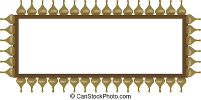 Frame with Onion Domes - Ornamental frame illustration with...