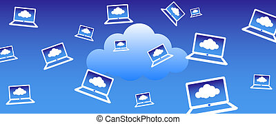 Cloud Computing Background - Client computers communicating...