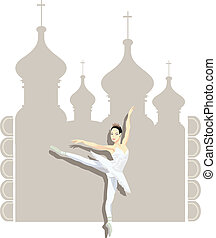 Russian Ballerina - Illustration of a Russian ballerina and...
