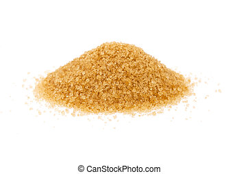 Cane sugar isolated on the white background