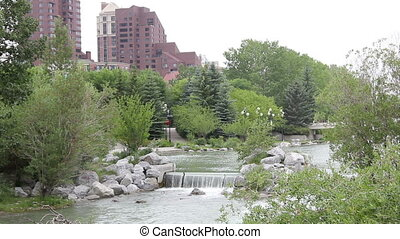 downtown calgary park - Beautiful Princes Island Park in...