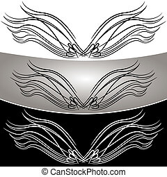 Abstract Angel Wing Set