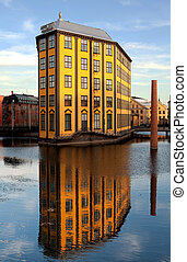 """The flat iron - """"The flat iron"""" a former textile mill in the..."""