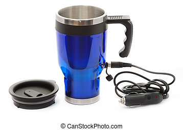 Electric coffee thermos mug - Electric heat...