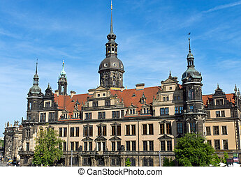 "The Castle of Dresden - The Castle ""Residenzschloss"" in..."