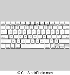 Computer keyboard vector illustration