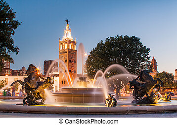 Kansas City Missouri Fountain - J.C. Nichols Memorial...