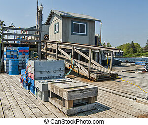 Dock for Maine Lobster Fishermen - Dock of Lobster Company...