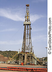 Drilling rig at North Pakistan