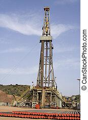 Drilling rig at North Pakistan