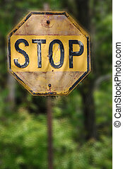 Antique Stop Sign
