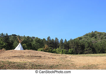 tepee - teepee at the top of the hill