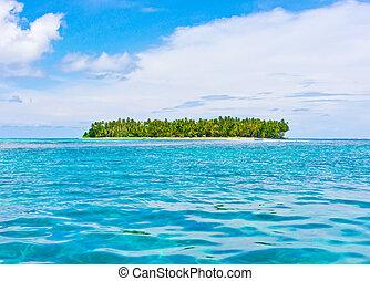 Tropical island in ocean
