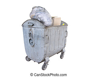 refuse bin near the fense
