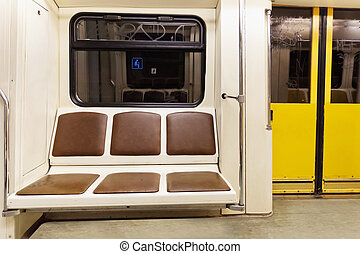 metro carriage - view from a metro carriage