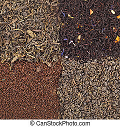 Assortment of dried tea