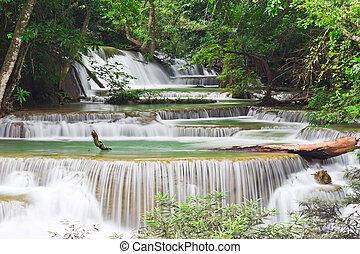 water fall , hua mae kamin level 4 kanchanaburi thailand