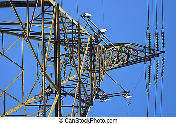 Cell antennas mounted on the utility tower