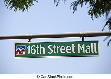 16th Street Mall - one of the main streets in downtown of...