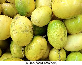 Passion fruit or maracuya background