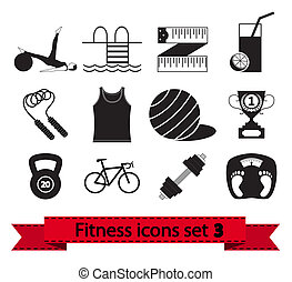 Fitness icon 3 - Professiona fitnessl icons for your website...