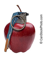 Apple Grenade isolated over a white background