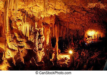 Trvael Photos of Israel - Soreq Cave - Stalactite in Soreq...