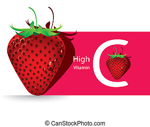 Strawberry high vitamin C vector - The abstract of...