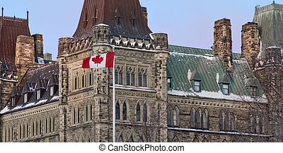 Senate Side Politics - A closeup view of the canadian...