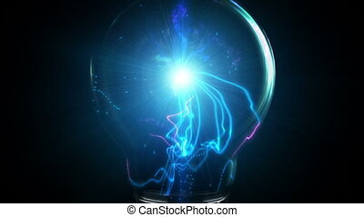 Idea - Brainwaves emitting from the source of a light bulb