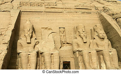 Abu Simbel Egypt - The Great Temple of Rameses II in Abu...