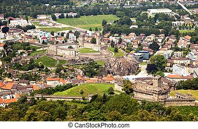 Castles, Bellinzona, Switzerland - Ancient castles in the...