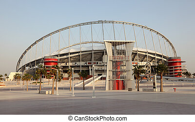 Khalifa International Stadium in Doha, Qatar. Photo taken at 7th of January 2012