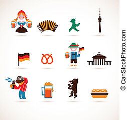 collection of Germany icons - collection of Germany vector...