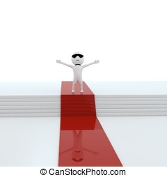 red_carpet - 3d human as a celebrities in white background