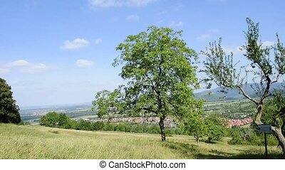 panoramic view in Germany - panoramic view the east of...