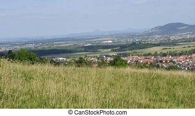 panoramic view in Germany - panoramic view the south of...