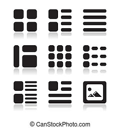 Gallery view Display options icons