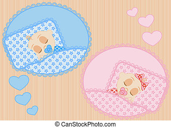 sleeping children - happy little sleeping children boy and...