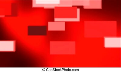 BG RED with falling rectangles - Red animated background...