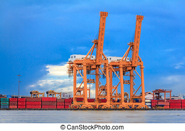 Cargo Container Port - Industrial Cargo Container Port Of...
