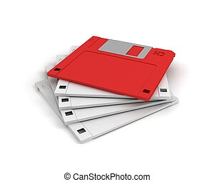 diskettes. leadership concept