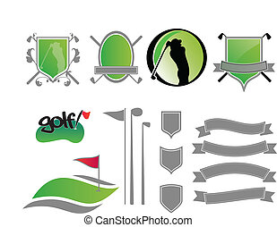 Golf Logos - Collection of golf labels, badges and icons