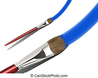 Artist Paint Brush - Detailed Illustration of a Paint Brush