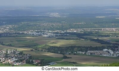 panoramic view in Germany - panoramic view of the historic...